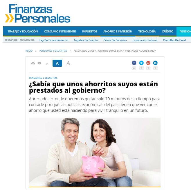 Finanzas Personales CDTenlinea Julio 2017
