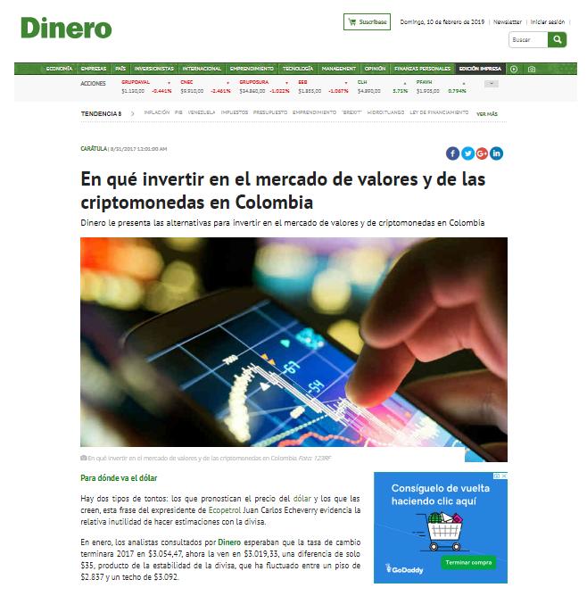 Revista Dinero CDTenlinea 31 de agosto de 2017